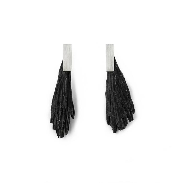Sterling Silver & Kyanite Zenith Earrings