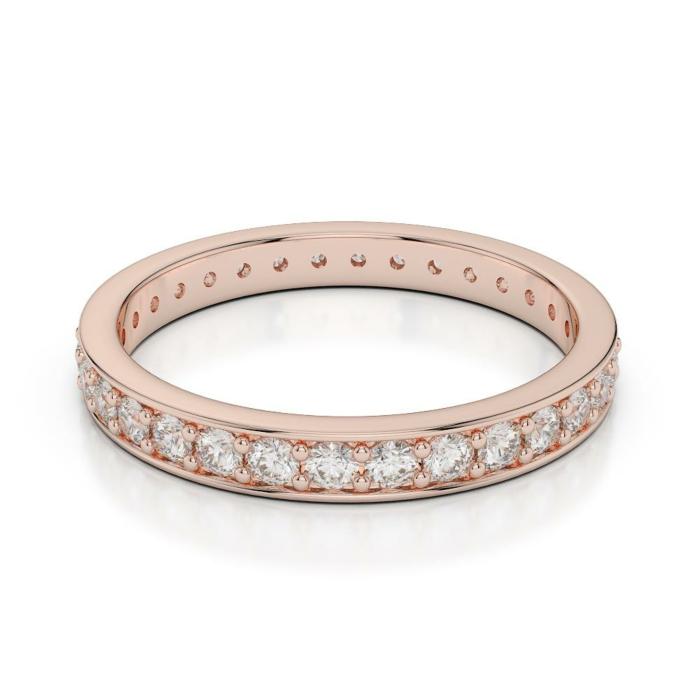 18kt Rose Gold Diamond Full Eternity Ring