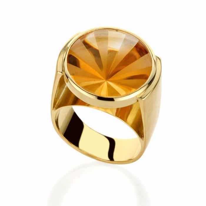 Kaleidoscope Citrine Ring