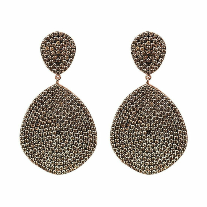 Monte Carlo Earrings Rose Gold Champagne