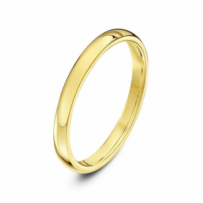 18kt Yellow Gold Heavy Court Shape Wedding Ring