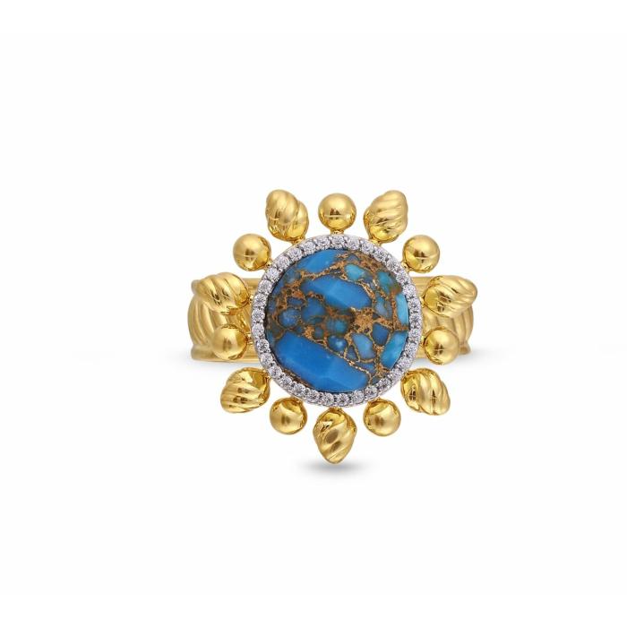 Rise & Shine Detachable Turquoise & Diamond Ring