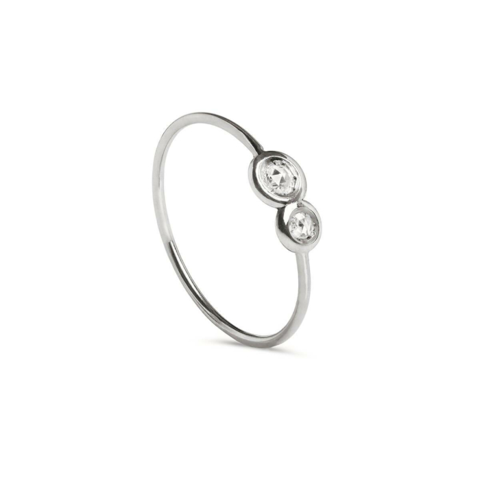9kt White Gold Oro Bianco Diamanti Ring