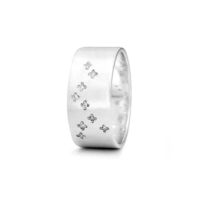 Sterling Silver Sagittarius Zodiac Constellation Ring