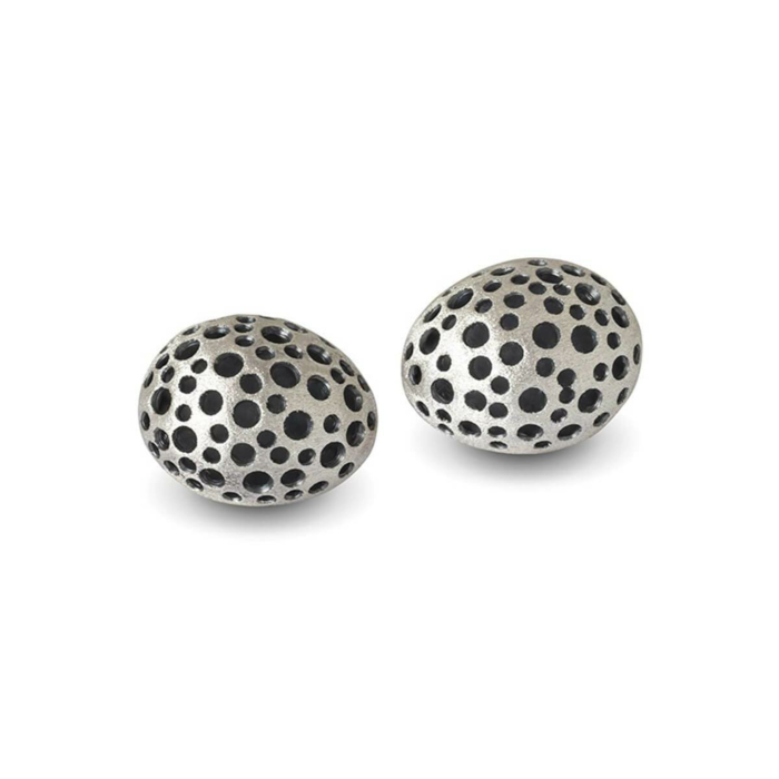 Patina Sterling Silver Secretive Studs