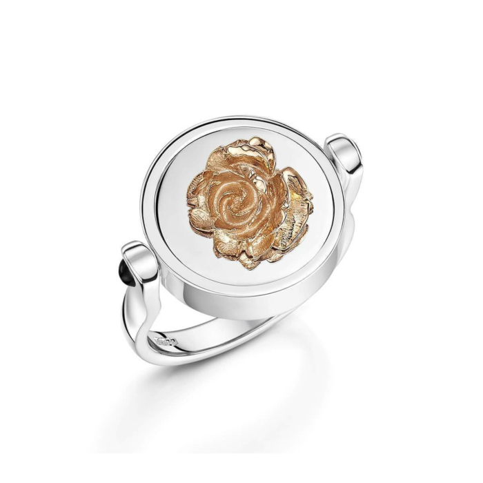Sterling Silver Blooming Rose Ring