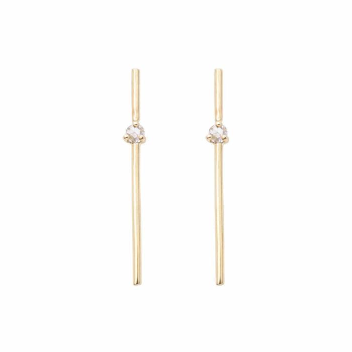 Mini Rosecut Diamond Pin Earrings