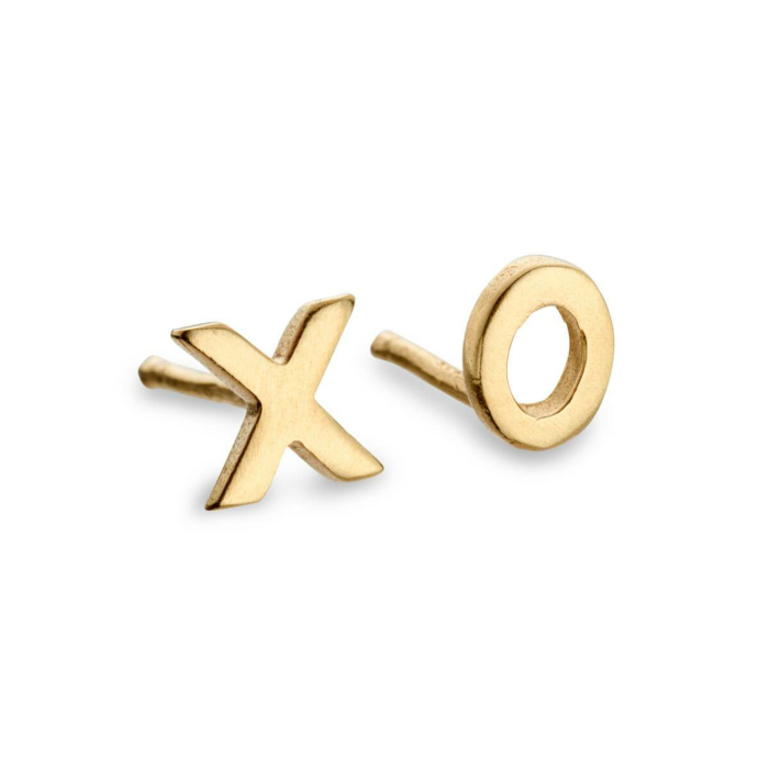 9kt Yellow Gold Hugs and Kisses Gold Earrings
