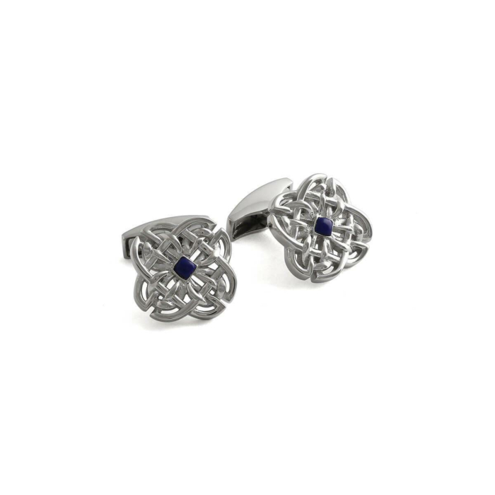 Sterling Silver & Lapis Celtic Stone Cufflinks