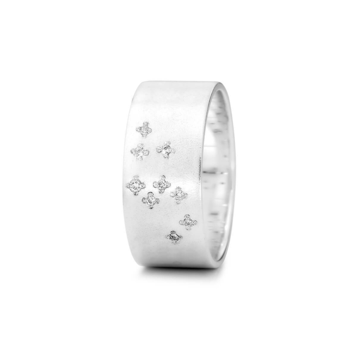 Sterling Silver Leo Zodiac Constellation Ring