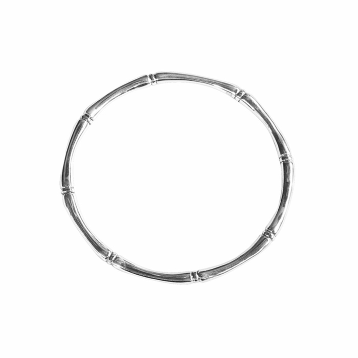 Sterling Silver Bamboo Round Bangle
