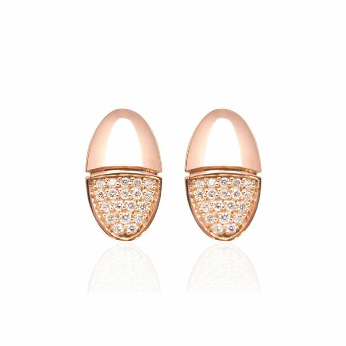 Rose Gold Elegant Diamond Earrings