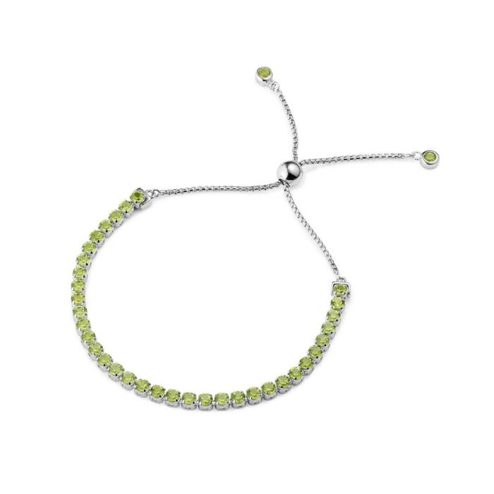 Sterling Silver Pinglin Peridot Bracelet
