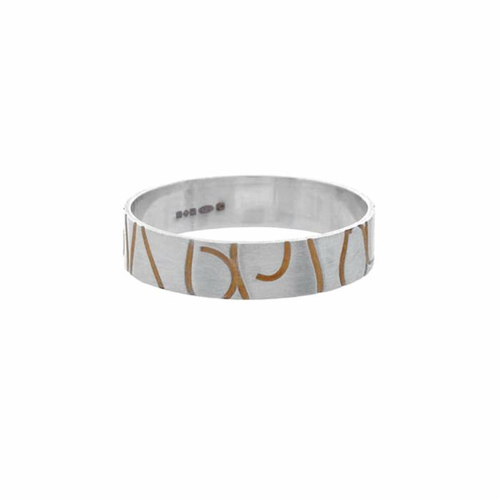 Telkari Laser Segment Narrow Ring