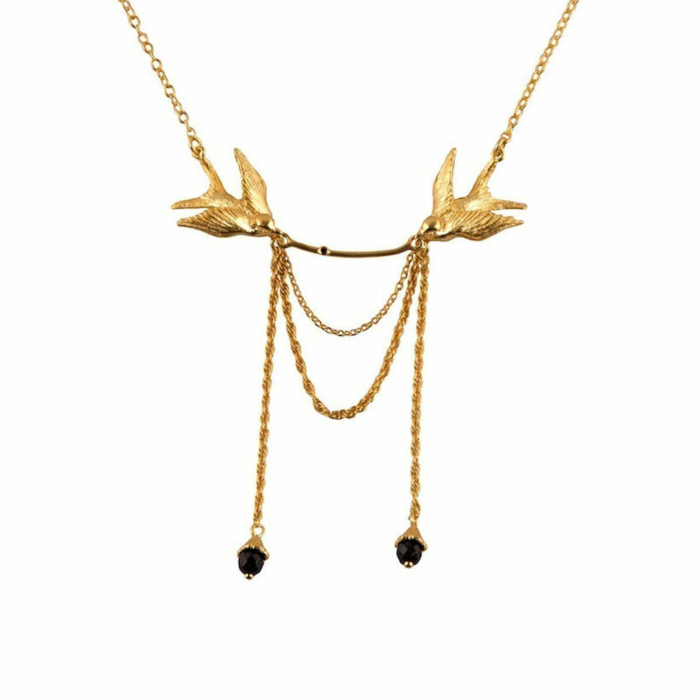 Double Swallow Gold necklace