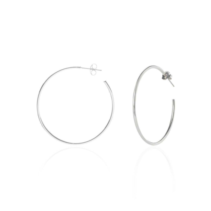 Sterling Silver Simple Oversize Hoops