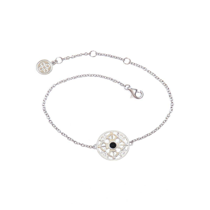 The Grounds of Freedom White Gold Bracelet