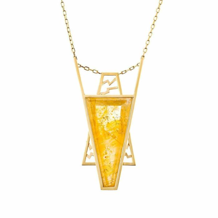 Yellow Gold & Quartz Armona Necklace | Jaime Moreno
