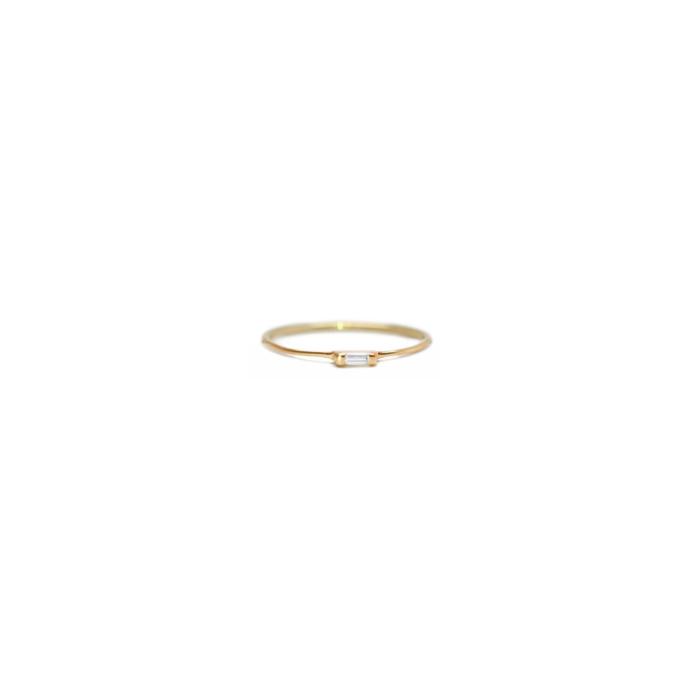 14kt Yellow Gold Diamond Baguette Ring