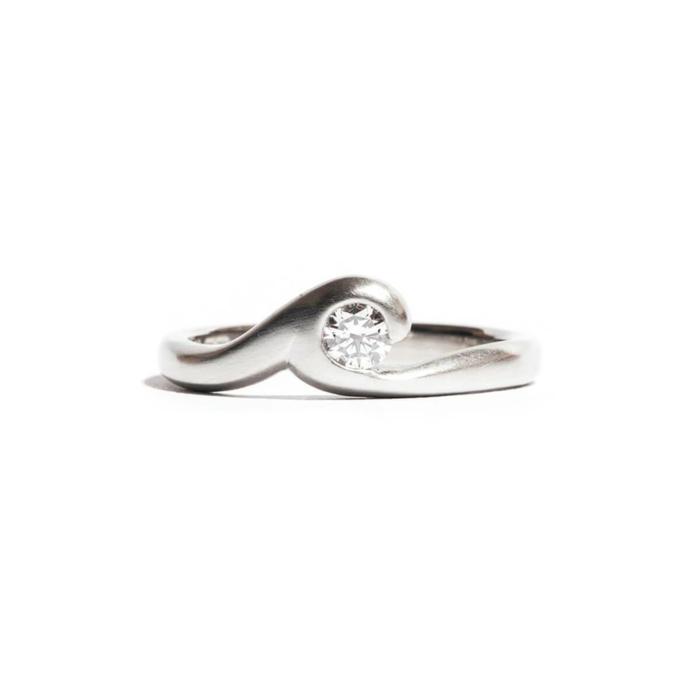 Satin Finished Platinum Southern Ocean Ring