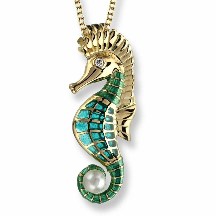 18kt Gold Seahorse Necklace