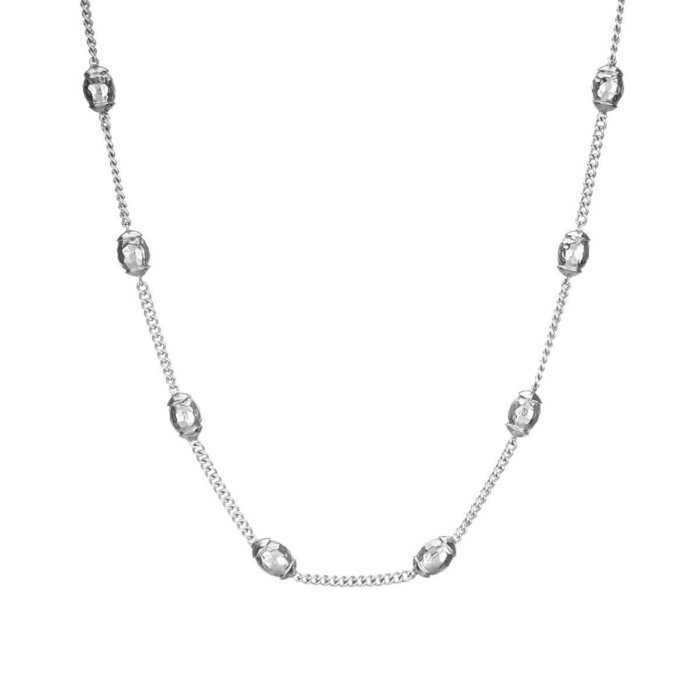 Sterling Silver Plated Una Necklace