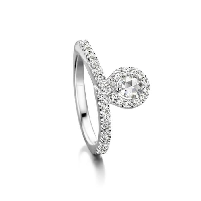 18kt White Gold EyeOnYou Ring With Diamonds
