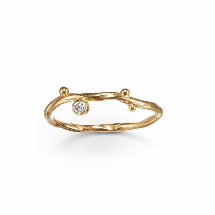 Gold & Diamond Seafire Ring | Bergsoe