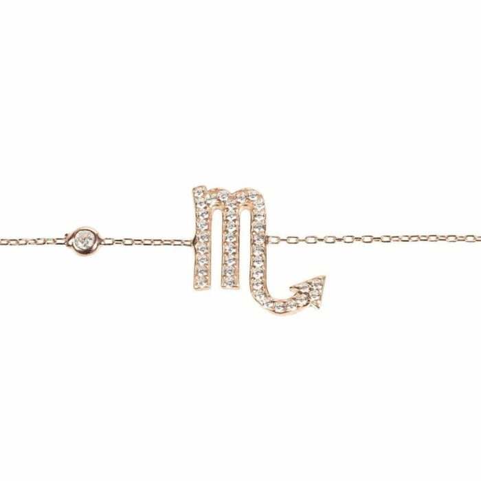 Scorpio Zodiac Bracelet Rose Gold