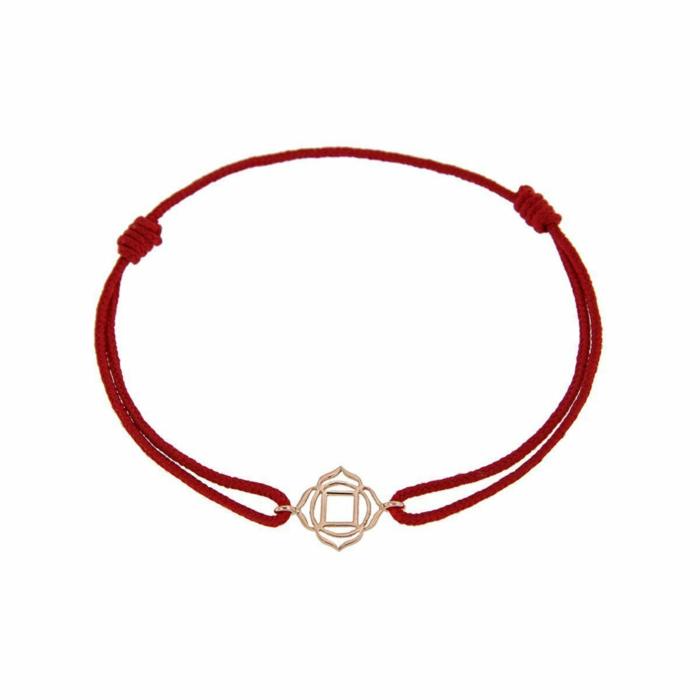 Rose Gold & Thread Muladhara Bracelet | Tiny-Om