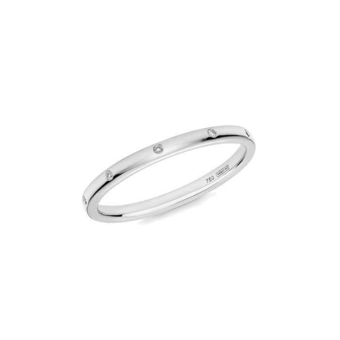 10 Stone XV Diamond Ring In 18kt White Gold