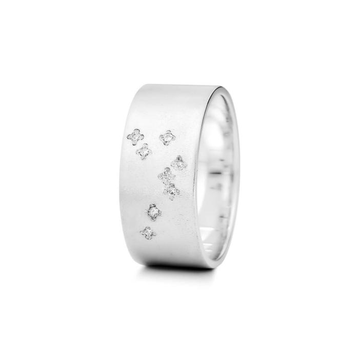 Sterling Silver Aquarius Zodiac Constellation Ring