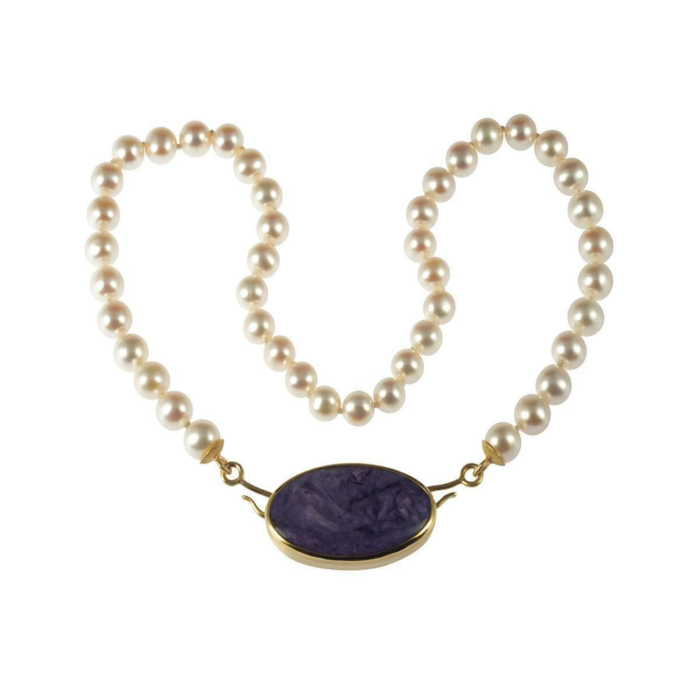 Yellow Gold Rhapsody In Lilac Necklace   Goldspindel