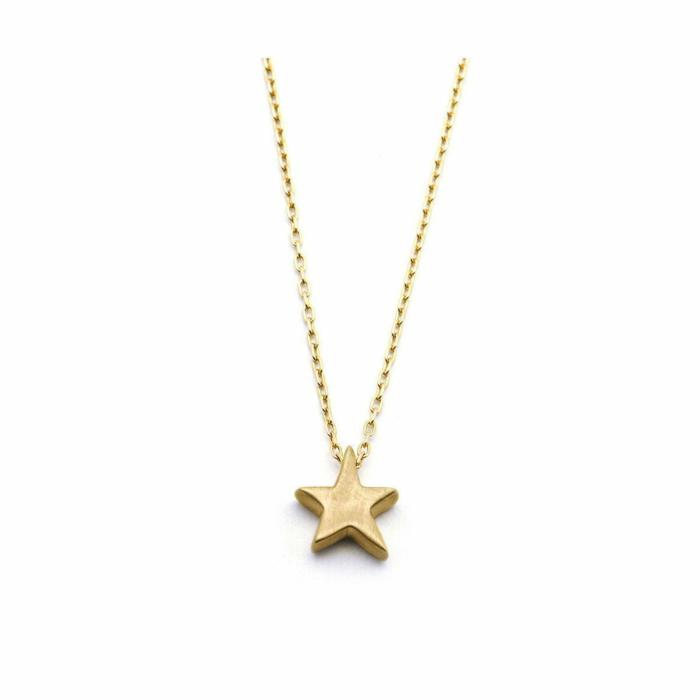 Gold Silhouette Star Necklace | Ileava Jewelry