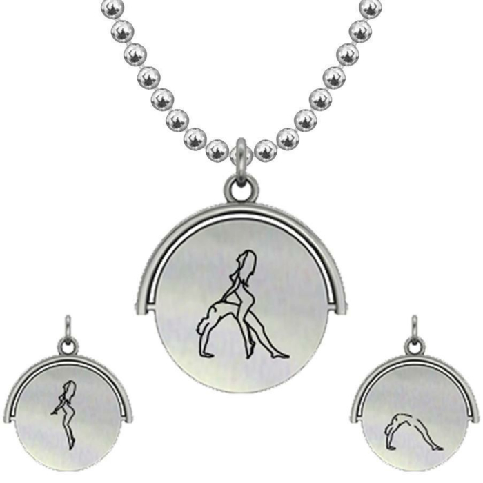 Allumersutra 30MM Silver Pendant Necklace - Girl And Boy - The Bridge