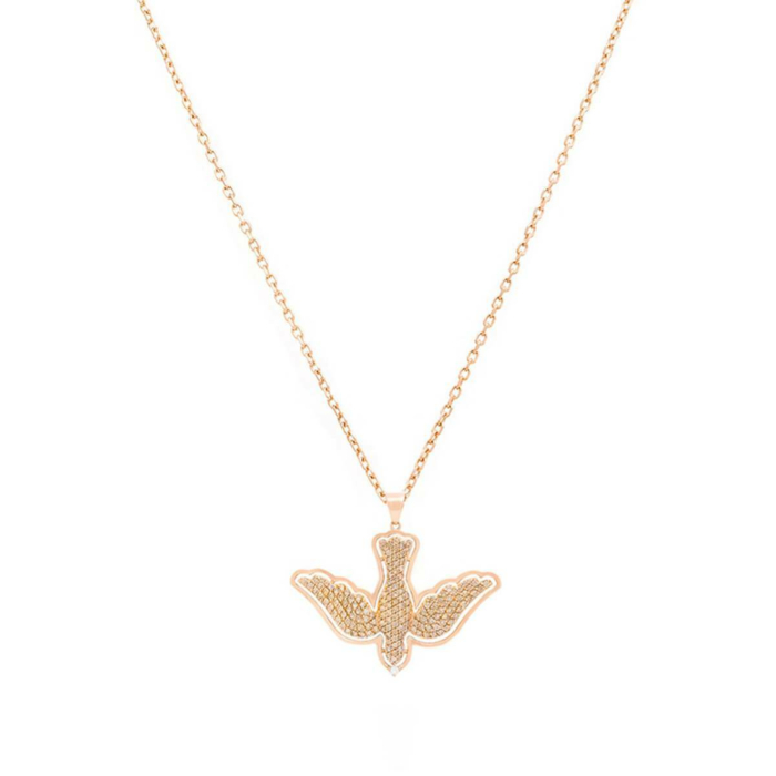 18kt Rose Gold Small Dove Necklace