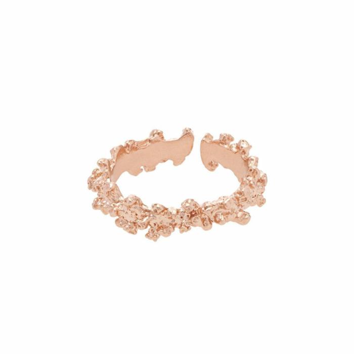Rose Gold Adjustable Coral Ring