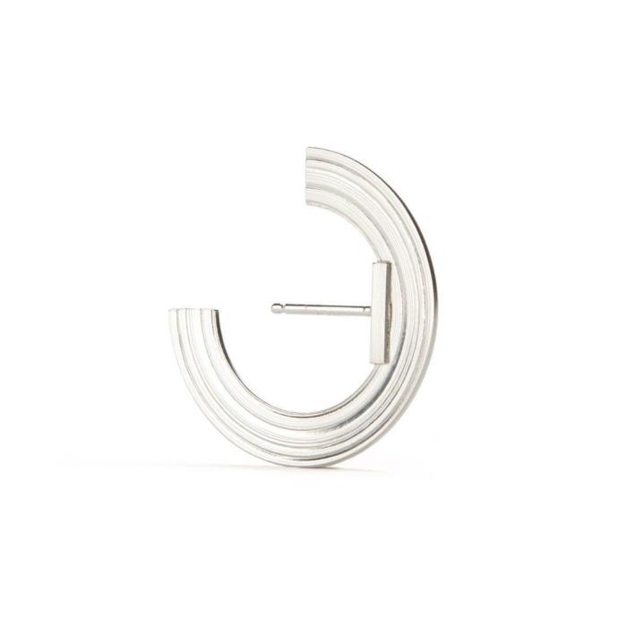 Sterling Silver Orbit Small Radius Lobe Earrings