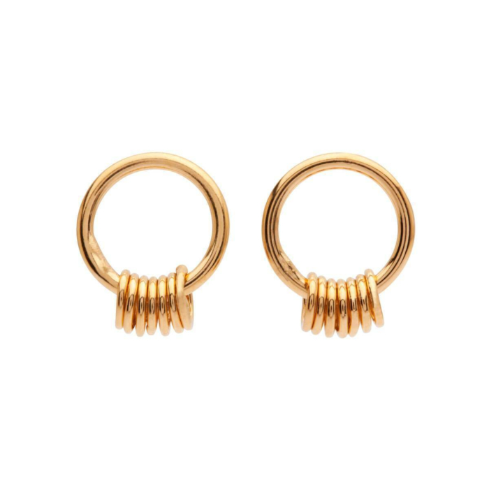 Yellow Gold Plated Petite 7 Studs