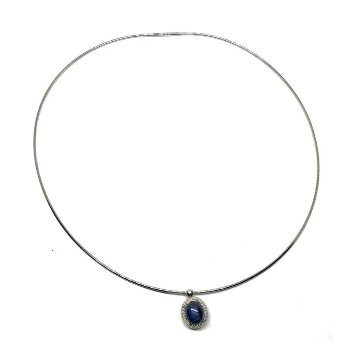 18kt White Gold & Sapphire St. Moritz Necklace
