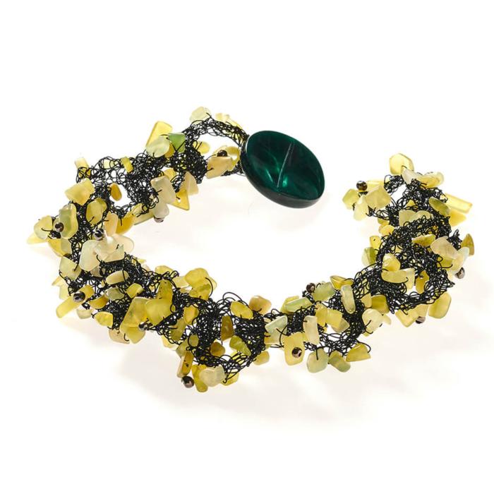 Olive Colour Quartz Necklace