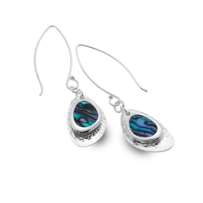 Sterling Silver Paua Shell Rockpool Earrings