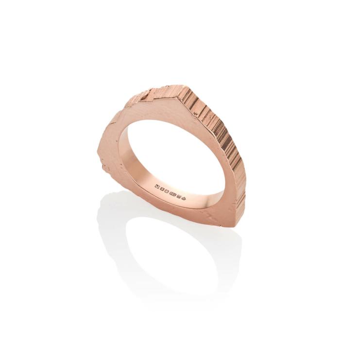 18kt Fairtrade Gold Rockstars Trigonal Edit Large Ring
