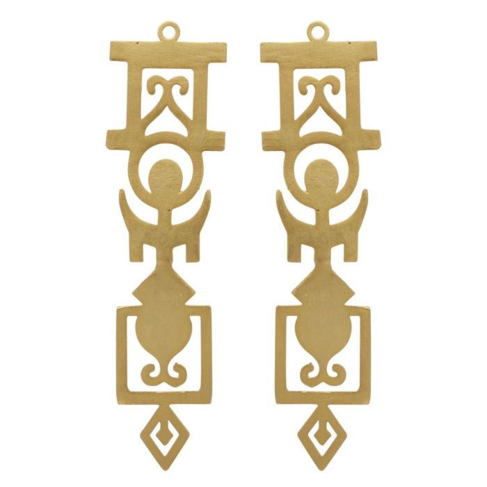 Intricate Geometric Statement Earrings