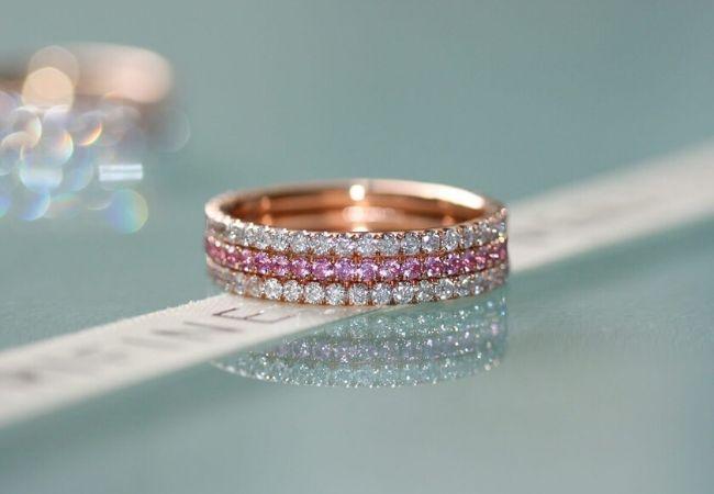 10 pink diamond rings