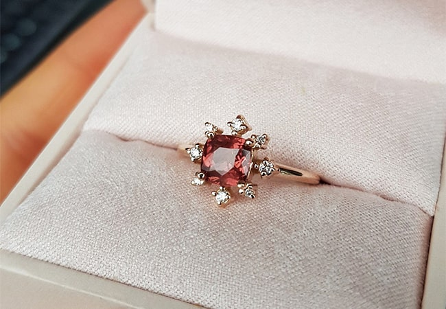 The best coloured stone engagement rings to propose with