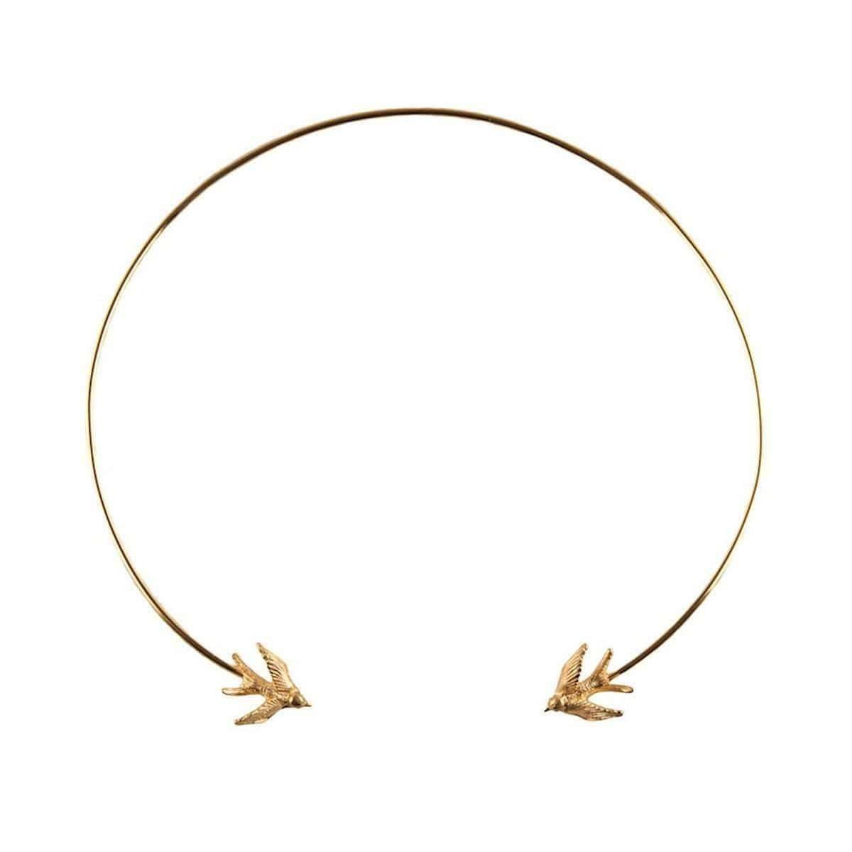 Gold Swallow Torc Necklace, Roz Buehrien