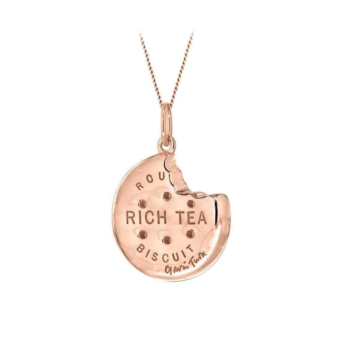 Rose Gold Rich Tea Biscuit Pendant, True Rocks