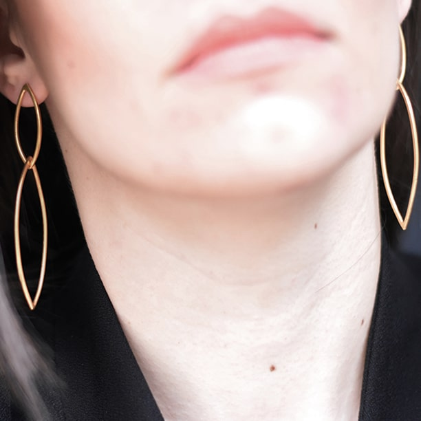 Win this pair of Gold Plated Rhombus Earrings from Elena Jewelry Concepts